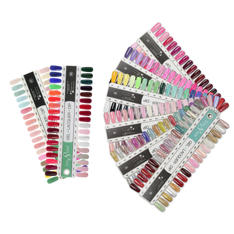 Cre8tion Matching Color - 6 Boards - COLOR CHART - 216 Colors