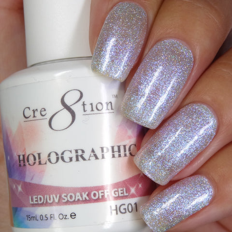 Cre8tion - Holographic Soak Off Gel .5oz HG01