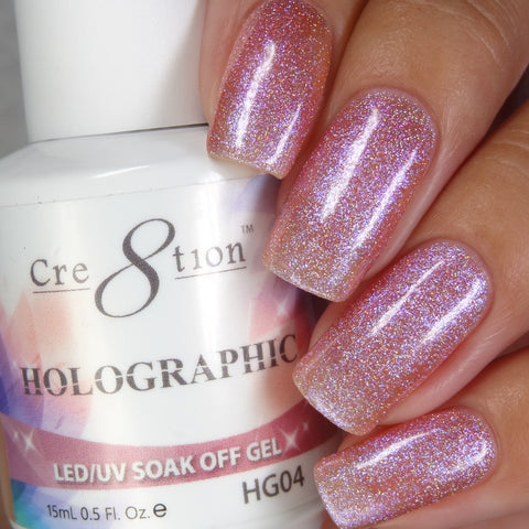 Cre8tion - Holographic Soak Off Gel .5oz HG04