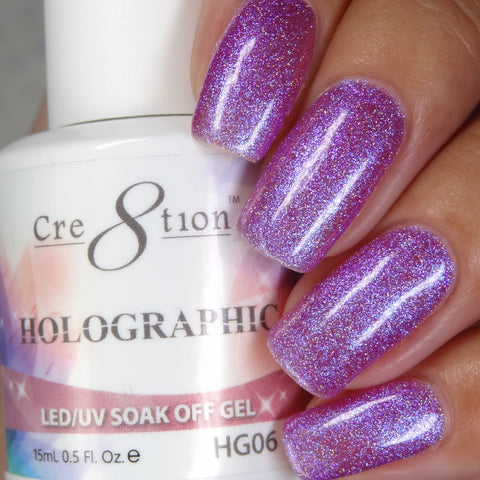 Cre8tion - Holographic Soak Off Gel .5oz HG06