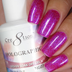 Cre8tion - Holographic Soak Off Gel .5oz HG07