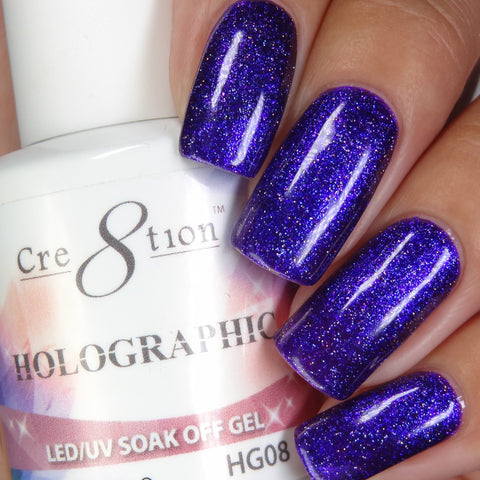 Cre8tion - Holographic Soak Off Gel .5oz HG08