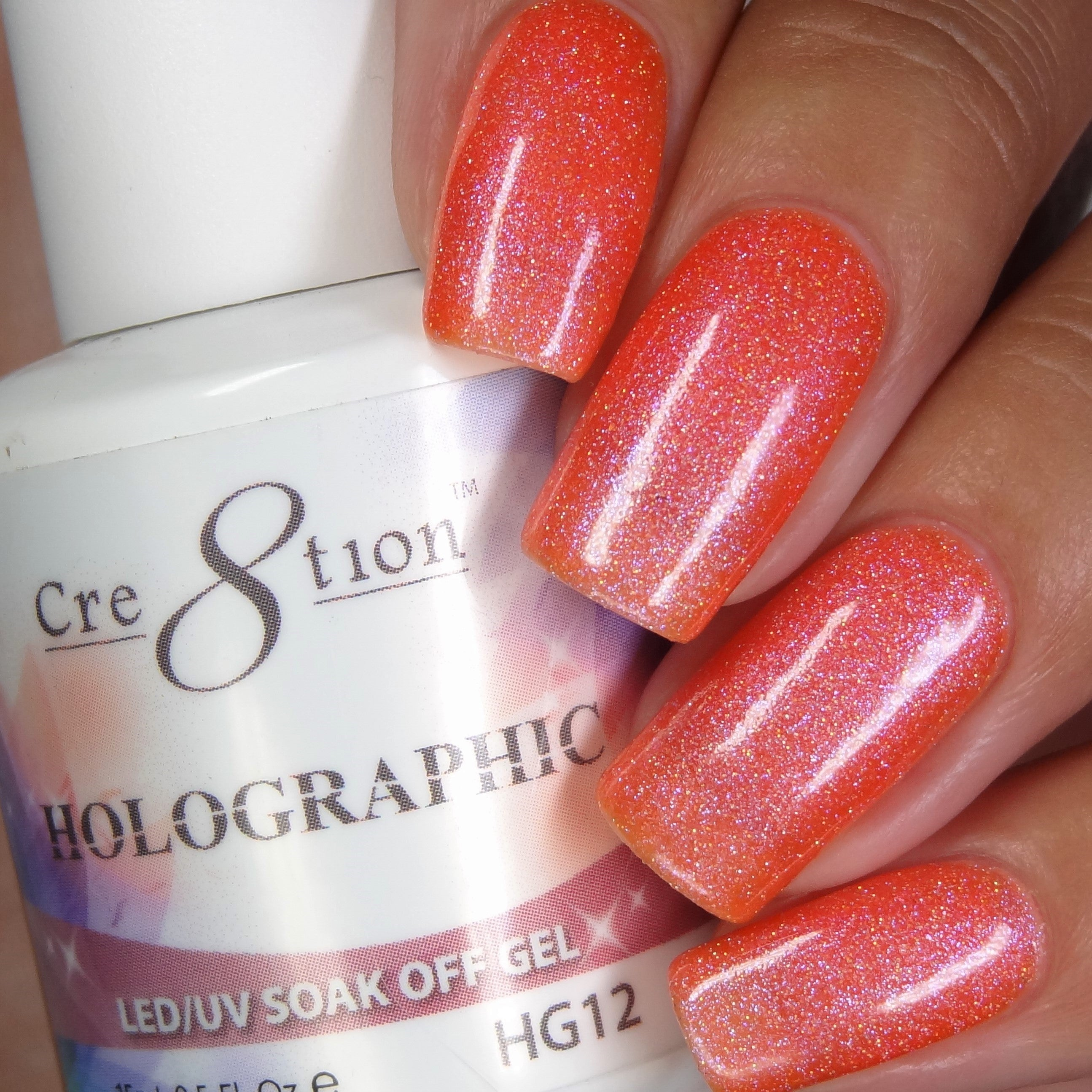 Cre8tion - Holographic Soak Off Gel .5oz HG12