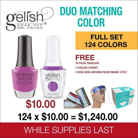 Gelish Matching Color Gel & Nail Lacquer Full Set of 124 colors
