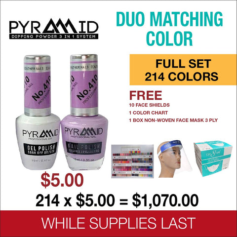 Pyramid Duo Matching Color Full Set of 214 colors