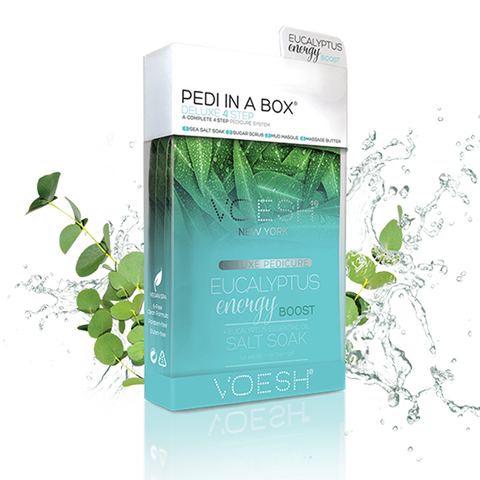Voesh 4 step spa pedicure - Eucalytus Energy Boost 50 pcs/case