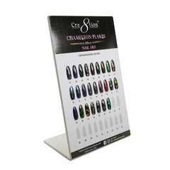 Cre8tion - Nail Art Effect - Chameleon Flakes Full Set  - 36 Colors Collection