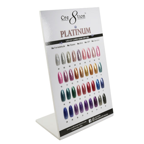 Cre8tion - Foam Display Platinum Soak Off Gel
