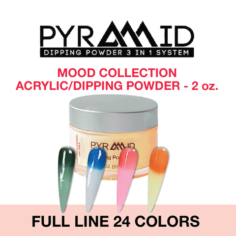 Pyramid Dipping Powder, Mood Change Collection, Full Set Of 24 Colors