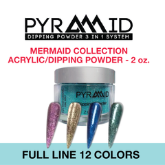 Pyramid Dipping Powder - Mermaid Collection - Full Set 12 Colors
