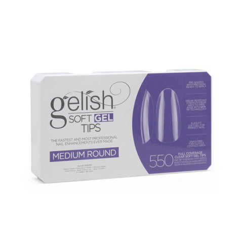 Gelish Soft Gel Tips Medium Round 550 ct