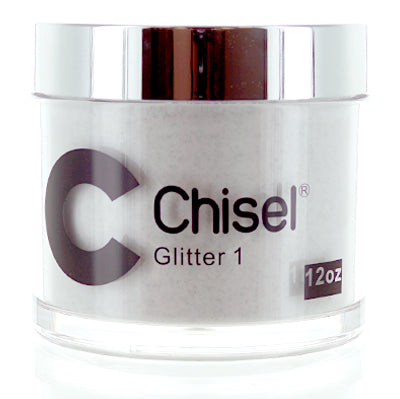 Chisel Nail Art - Dipping Powder - Pink & White Collection - Glitter 01 - Refill 12oz