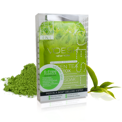 Voesh 4 step spa pedicure - Green Tea Detox 50 pcs/case