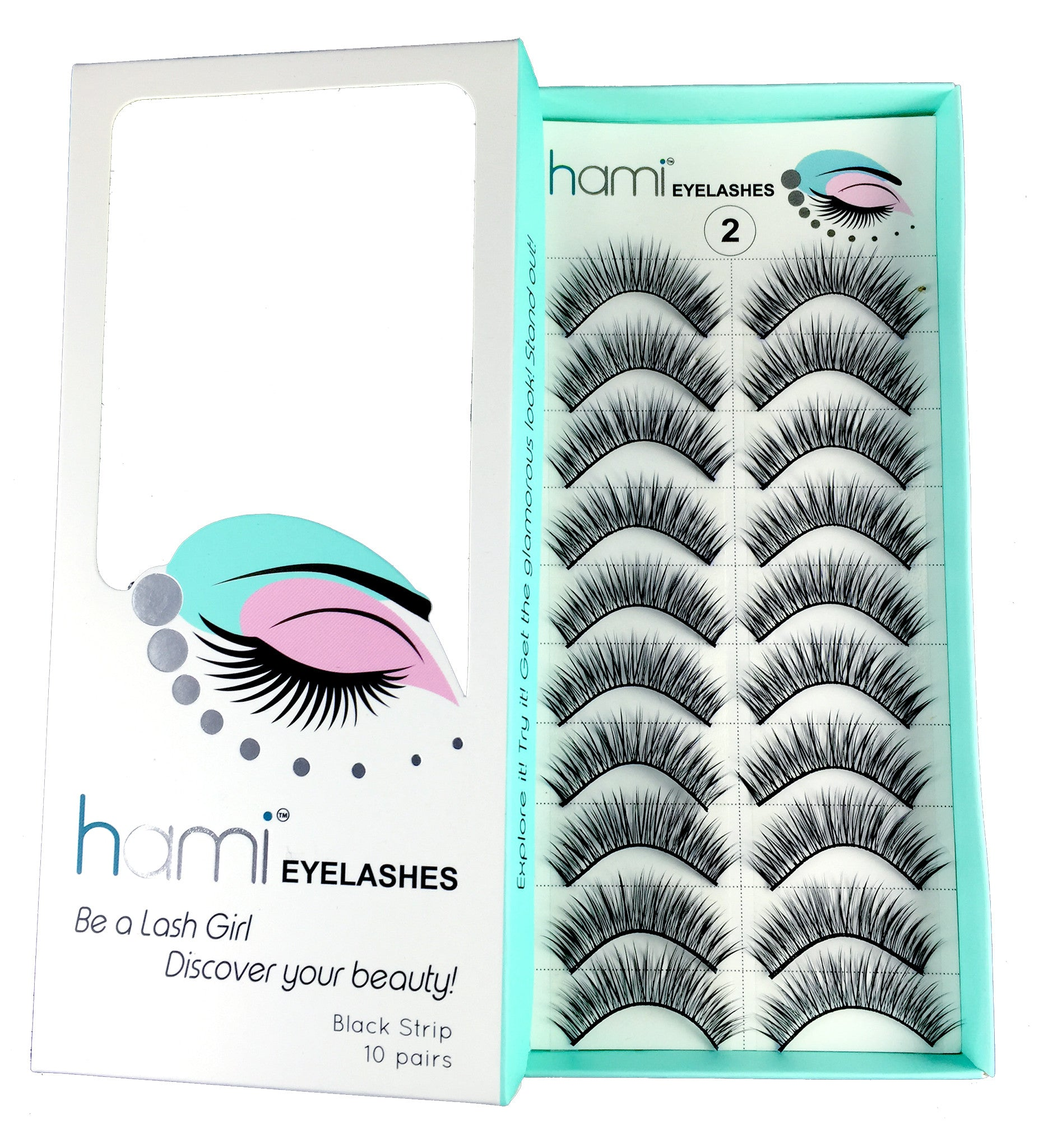 Hami Cosmetics - Eyelashes - Black #08