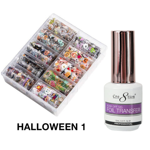 Cre8tion 10 Designs Foil Collection Halloween 01