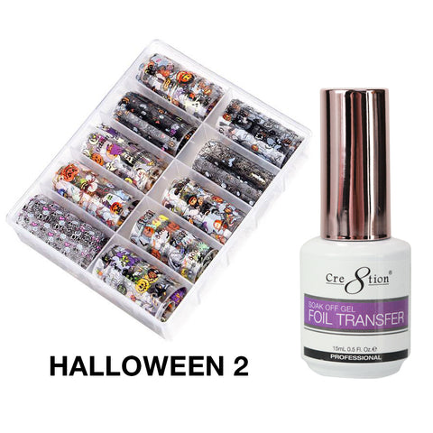 Cre8tion 10 Designs Foil Collection Halloween 02
