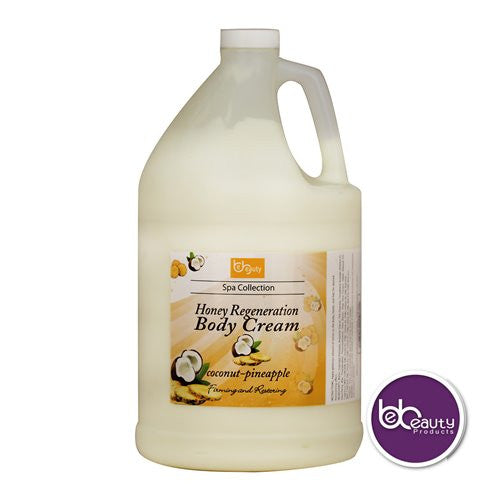 Spa Collection - Honey Regeneration Body Cream - Coconut & Pineapple - 1 Gallon (3784.4 ml)