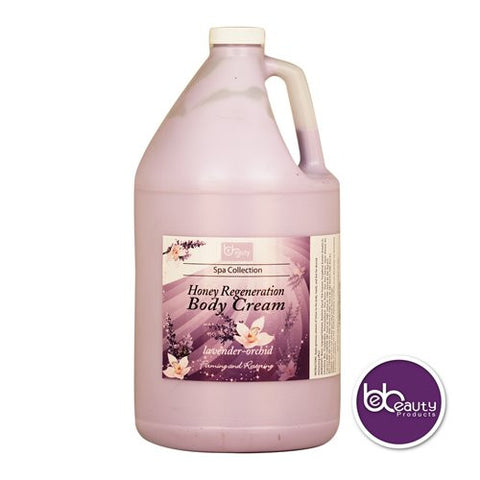 Spa Collection - Honey Regeneration Body Cream - Lavender & Orchid - 1 Gallon (3784.4 ml)