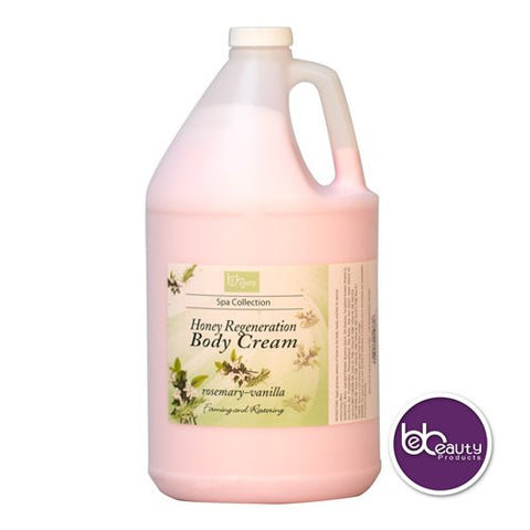 Spa Collection - Honey Regeneration Body Cream - Rosemary & Vanilla - 1 Gallon (3784.4 ml)