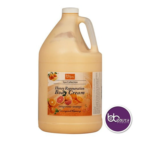 Spa Collection - Honey Regeneration Body Cream - Tangerine & Orange - 1 Gallon (3784.4 ml)