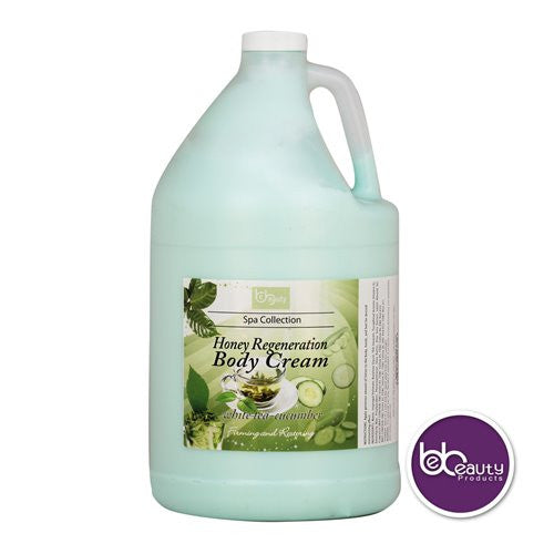 Spa Collection - Honey Regeneration Body Cream - White Tea & Cucumber - 1 Gallon (3784.4 ml)