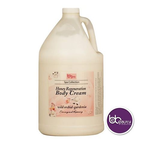 Spa Collection - Honey Regeneration Body Cream - Wild Orchid & Gardenia - 1 Gallon (3784.4 ml)