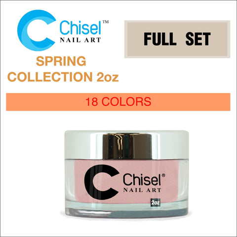 Chisel Nail Art - Dipping Powder - 2oz Solid Spring Collection 18 Colors - $9.00/each - Color SOLID #196 - #213