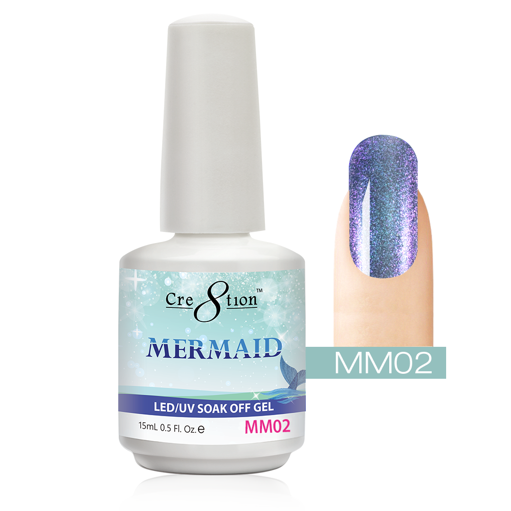 Cre8tion - Mermaid Soak Off Gel .5oz MM02