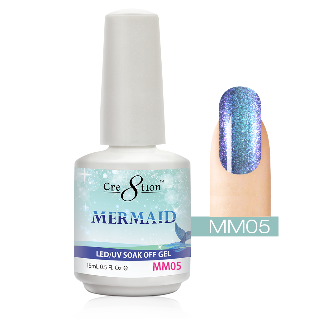 Cre8tion - Mermaid Soak Off Gel .5oz MM05
