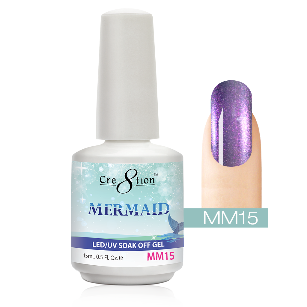 Cre8tion - Mermaid Soak Off Gel .5oz MM15