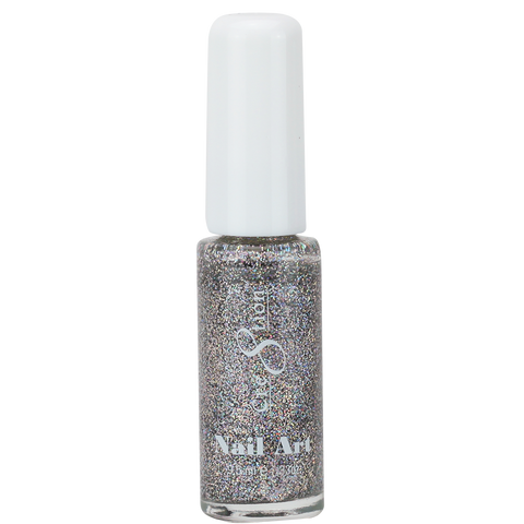 Cre8tion -  Nail Art Design Thin Detailer 03 -  Multi-Color Glitter
