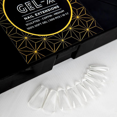 Apres Gel - X Nail Extensions Sculpted Coffin Medium
