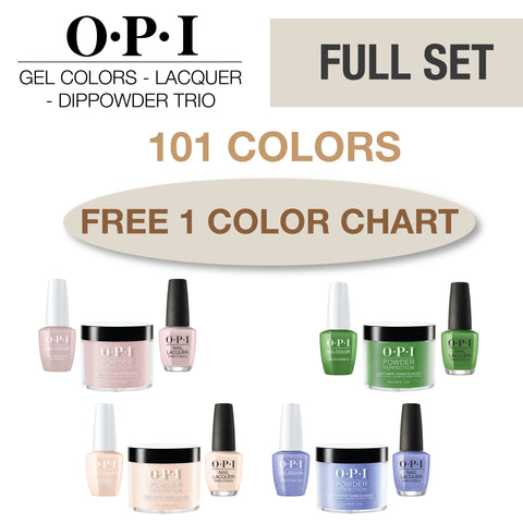 OPI Gel Colors - Lacquer -  Powder Perfection Trio Full Set 101 Colors