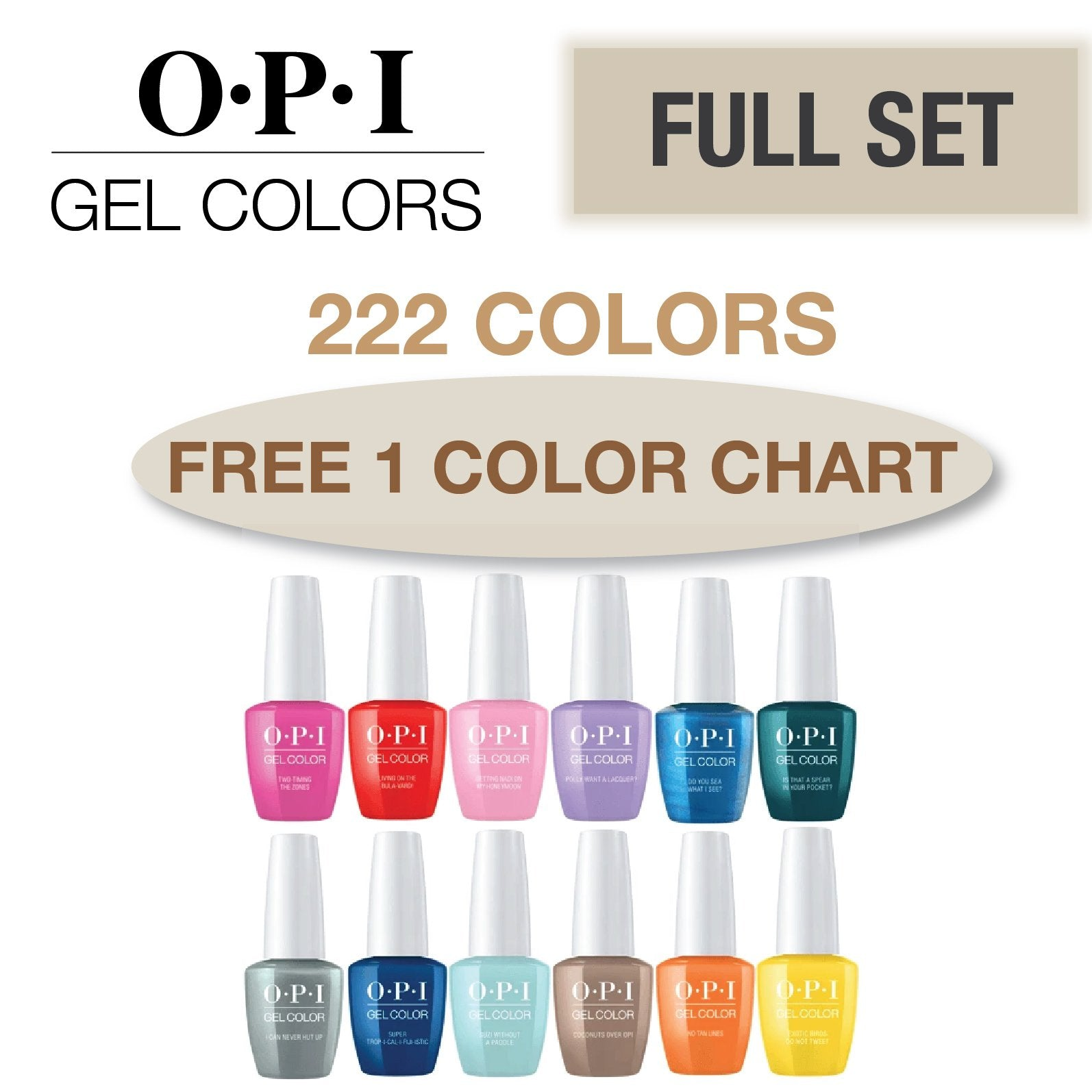 OPI Gel Colors Full Set 222 Colors