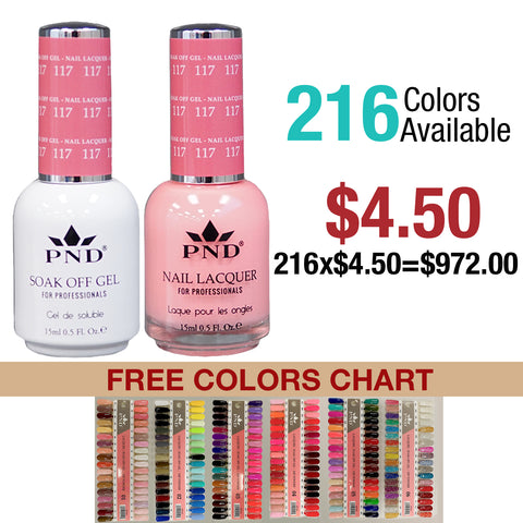 PND Duo Matching Color Full Set of 216 colors