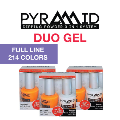 Pyramid Duo ( Gel Polish + Nail Lacquer) Full line of 214 colors