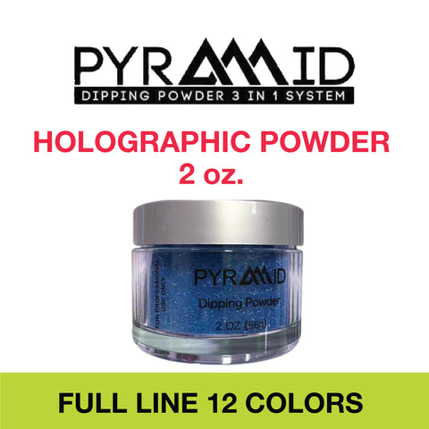 Pyramid Holographic powder - 2 oz. Full Set 12 colors