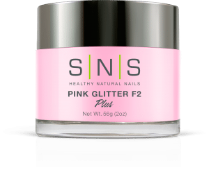 SNS Dipping Powder Pink Glitter F2