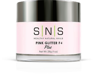 SNS Dipping Powder Natural Pink Glitter F4