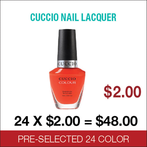 Cuccio Lacquer Pre-Selected 24 colors