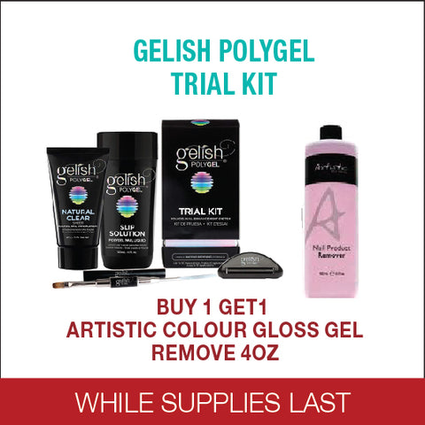 Poly Gel Trial kit- Buy 1 Get 1 Artistic Color Gloss Gel Remove 4oz free