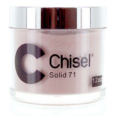Chisel Nail Art - Dipping Powder - Pink & White Collection - SOLID 71 - Refill 12oz