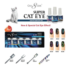 Cre8tion - Super Cat Eye Soak Off Gel Full Set