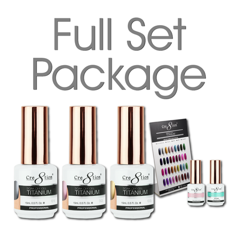 Cre8tion - Titanium Soak Off Gel Full Set - 36 Colors Collection