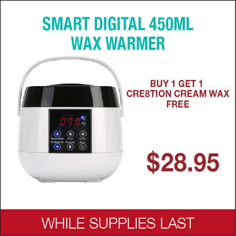 Cre8tion Smart Digital 450 ml Wax Warmer Buy 1 get 1 Cre8tion Cream Wax free