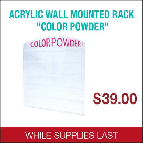 Airtouch Wall Mounted Powder Jar Rack 1 oz 96 pcs