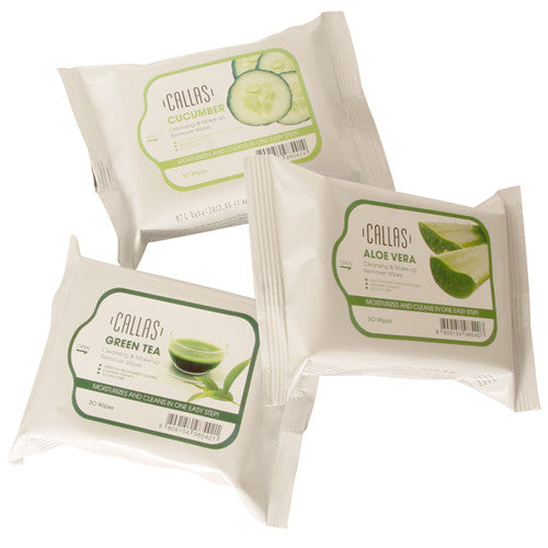 Callas Cleansing & Make-up Remover Wipes