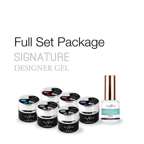Cre8tion - Signature Designer Gel - Soak Off Gel Full Set - 35 Colors Collection