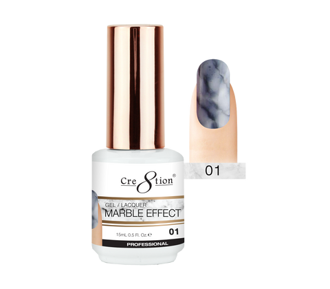 Cre8tion - Marble Effect Soak Off Gel/Lacquer .5oz 01