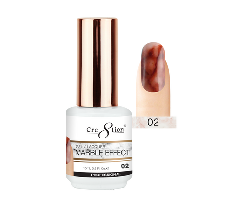 Cre8tion - Marble Effect Soak Off Gel/Lacquer .5oz 02